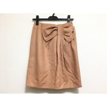 【中古】 ジャスグリッティー JUSGLITTY スカート サイズ1 S レディース 美品 ライトブラウン リボン