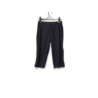 【中古】 ポールカ PAULEKA パンツ サイズ38 M レディース ネイビー アイボリー ブラウン