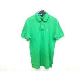 【中古】 ポロラルフローレン POLObyRalphLauren 半袖ポロシャツ サイズM メンズ グリーン