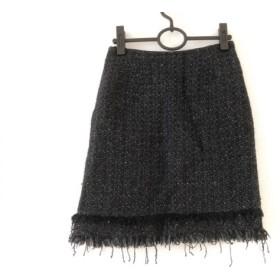 【中古】 ダイアグラム Diagram GRACE CONTINENTAL スカート サイズ36 S レディース 黒 スパンコール