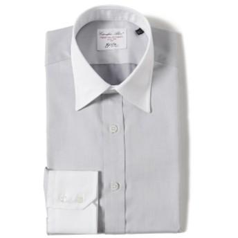 Brilla per il gusto / コットンピケ クレリックレギュラーカラーシャツ◎ メンズ ドレスシャツ LT. GREY 43
