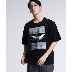 tk.TAKEO KIKUCHI(ティーケー タケオ キクチ) マーブルグラフィックプリントTシャツ