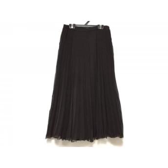 【中古】 レリアン Leilian ロングスカート サイズ11 M レディース ダークブラウン プリーツ