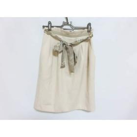 【中古】 ジャスグリッティー JUSGLITTY スカート サイズ2 M レディース ベージュ