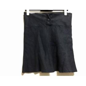 【中古】 アニエスベー agnes b ミニスカート サイズ36 S レディース ダークグレー リネン