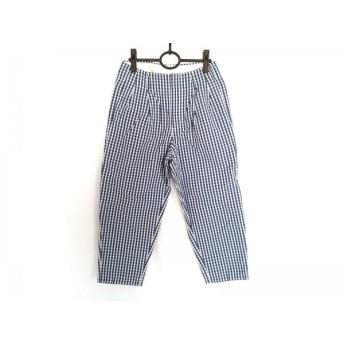 【中古】 サイ SCYE パンツ サイズ36 S レディース ネイビー 白 チェック柄