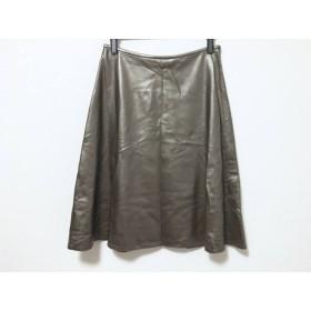 【中古】 エムズグレイシー M'S GRACY スカート サイズ38 M レディース ダークブラウン