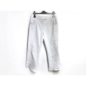 【中古】 リコヒロコビス パンツ サイズ9 M レディース ライトグレー リネン混/裾フリルクロップドパンツ