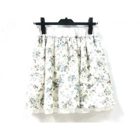 【中古】 ミニマム MINIMUM ミニスカート サイズ2 M レディース アイボリー マルチ