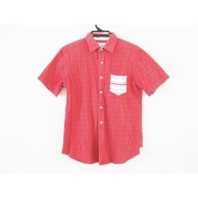 【中古】 ザ ショップ ティーケー THE SHOP TK (MIXPICE) 半袖シャツ サイズM メンズ レッド 白 グレー