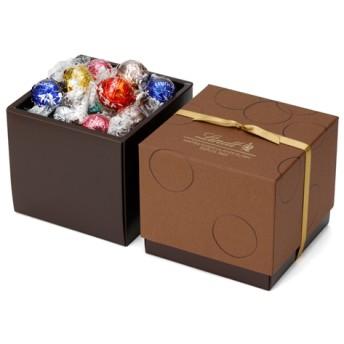 リンツ Lindt チョコレート チョコ スイーツ ギフト お中元 リンドールスクエアギフトボックス 8種アソート38個入り