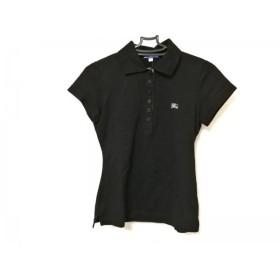 【中古】 バーバリーブルーレーベル Burberry Blue Label 半袖ポロシャツ レディース 黒