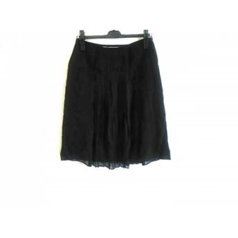 【中古】 バーバリーロンドン Burberry LONDON スカート サイズ38 L レディース 黒 プリーツ