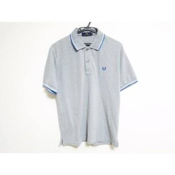 【中古】 フレッドペリー FRED PERRY 半袖ポロシャツ サイズM メンズ グレー ブルー 白