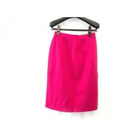 【中古】 イヴサンローラン YvesSaintLaurent スカート サイズ11 M レディース 美品 ピンク ニット