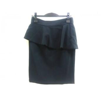【中古】 ザラ ZARA スカート サイズS レディース ブラック