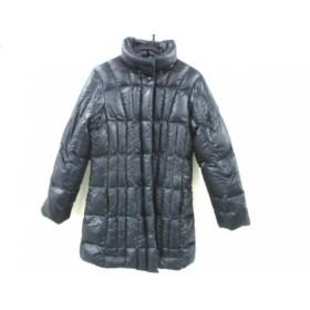 【中古】 シービーワイ CBY ダウンコート サイズ42 L レディース ダークネイビー 冬物