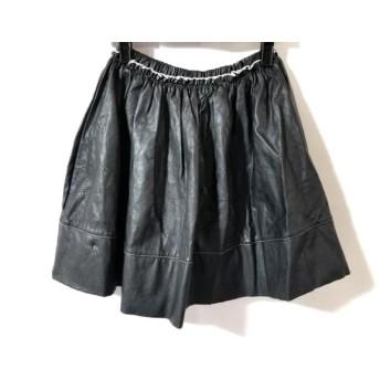 【中古】 ハニーミーハニー Honey mi Honey スカート サイズF レディース 黒 レザー