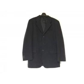 【中古】 アレグリ allegri ジャケット サイズ48 XL メンズ 黒 肩パッド
