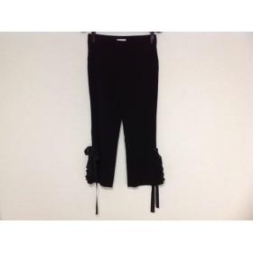 【中古】 トゥービーシック TO BE CHIC パンツ サイズ36 S レディース 黒 フリル/リボン