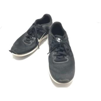 【中古】 ナイキ NIKE スニーカー 26.5cm レディース 830369-001 黒 白 化学繊維