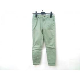 【中古】 ユニクロ UNIQLO パンツ サイズ22 レディース ライトグリーン
