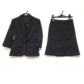 【中古】 バーバリーブラックレーベル Burberry Black Label スカートスーツ サイズ38 M レディース 黒