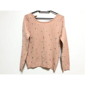 【中古】 リランドチュール Rirandture 長袖セーター サイズ2 M レディース 美品 ピンク マルチ 刺繍