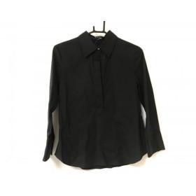 【中古】 セオリー theory 長袖ポロシャツ サイズ4 S レディース 黒