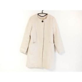 【中古】 ルクールブラン le. coeur blanc コート サイズ38 M レディース ベージュ 冬物