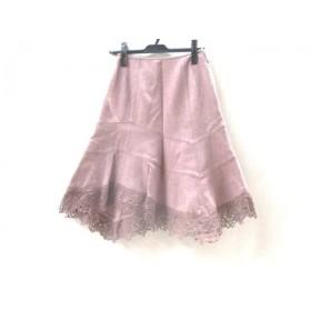 【中古】 レストローズ L'EST ROSE スカート サイズ1 S レディース ピンクベージュ