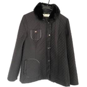 【中古】 クレージュ COURREGES コート サイズ13 L レディース 黒 冬物