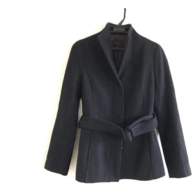【中古】 エムプルミエ M-PREMIER ジャケット サイズ34 S レディース 黒