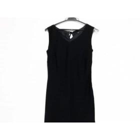 【中古】 ニジュウサンク 23区 ドレス サイズ40 M レディース 美品 黒 ラインストーン