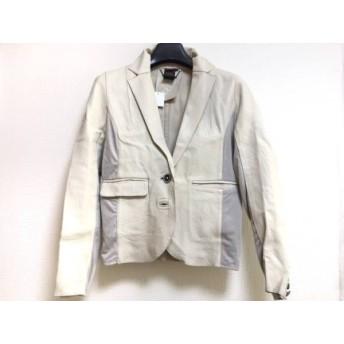 【中古】 ダブルスタンダードクロージング ジャケット サイズ36 S レディース アイボリー グレー レザー