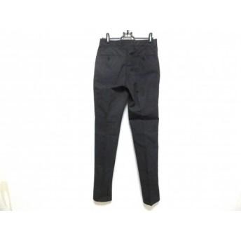 【中古】 グリーンレーベルリラクシング green label relaxing パンツ サイズ72 メンズ 美品 ネイビー 白