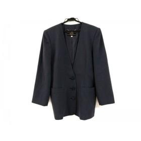 【中古】 レリアン Leilian ジャケット サイズ9 M レディース グレー 肩パッド