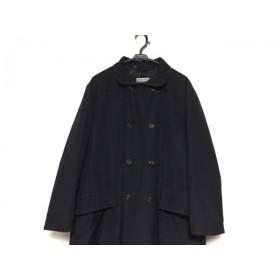 【中古】 ジョルジオアルマーニ GIORGIOARMANI コート メンズ 黒 LE COLLEZIONI/冬物