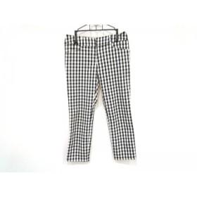 【中古】 アプワイザーリッシェ パンツ サイズ1 S レディース 白 ダークネイビー チェック柄