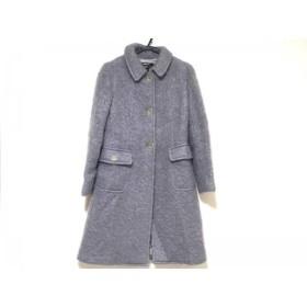 【中古】 ダナキャラン DKNY コート サイズ2 M レディース パープル 冬物
