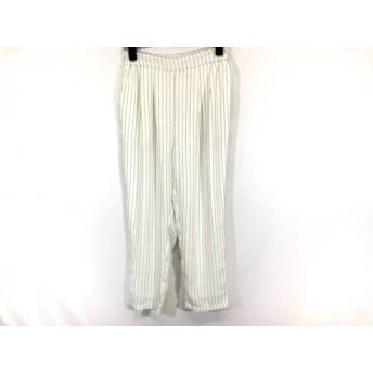 【中古】 ローリーズファーム パンツ サイズL レディース 美品 白 ダークネイビー ストライプ