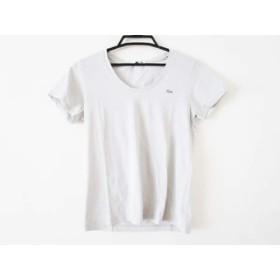 【中古】 ラコステ Lacoste 半袖Tシャツ サイズ36 S レディース 美品 ライトグレー