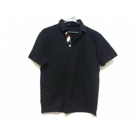 【中古】 ブラックレーベルクレストブリッジ 半袖ポロシャツ サイズ3 L メンズ 黒