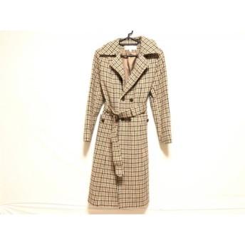 【中古】 ヒューマンウーマン HUMAN WOMAN コート サイズ2 M レディース 冬物/チェック柄