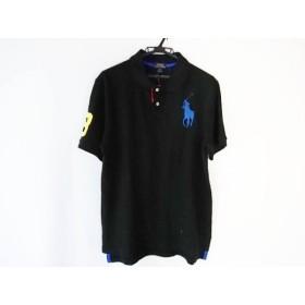 【中古】 ポロラルフローレン 半袖ポロシャツ サイズXL メンズ ビッグポニー 黒 ブルー イエロー