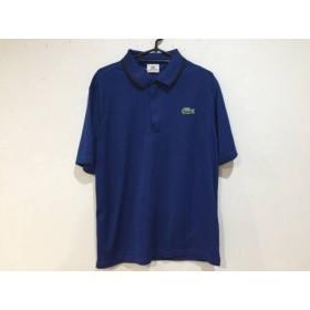 【中古】 ラコステ Lacoste 半袖ポロシャツ サイズ5 XL メンズ ブルー