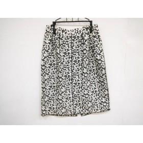 【中古】 ドルチェアンドガッバーナ DOLCE & GABBANA スカート サイズ40 M レディース 美品 黒 白 花柄