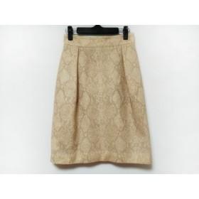 【中古】 ダイアグラム スカート サイズ36 S レディース 美品 ピンク ブラウン パイソン柄
