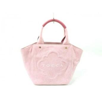 【中古】 トッカ TOCCA トートバッグ 美品 ピンク キャンバス 合皮