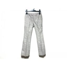 【中古】 ニジュウサンク 23区 パンツ サイズ36 S レディース ダークブラウン 白